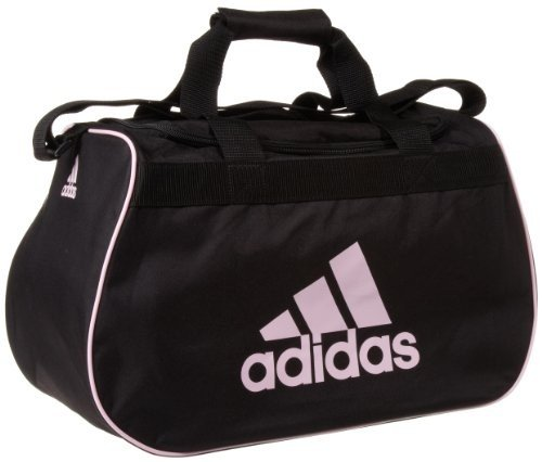 adidas small diablo duffle black / pink gym bag by adidas