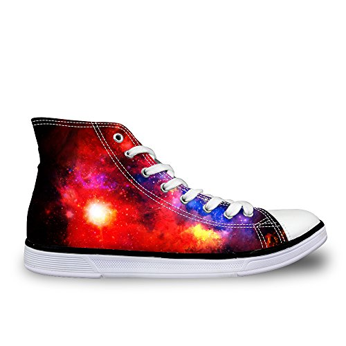 Size Sneakers for Shoes Casual 5 LedBack Teenagers Canvas Top Design Women 5 Galaxy 12 US Trainers Fashion High txIIOw8