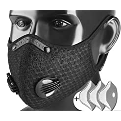 Sports mask hoods, warm windproof winter hats for men, face protection, riding masks, motorcycle masks, anti-fog masks, protective glasses, 3 filter elements.