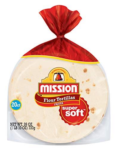 Mission Fajita Flour Tortillas | Trans Fat Free | Authentic, Large Size | 20 Count (26 oz)