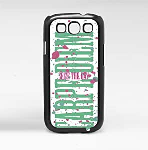 Carpe Diem Seize the Day Pink and Green Hard Snap on Phone Case (Galazy s3 III)