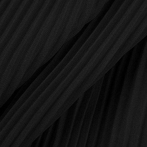 Donne Abito Elegante Da da Maxi Senza Prom Floreale Nero feiXIANG Sposa Lungo Vestito Maniche Serata donna Donne Sera Chiffon Stampa Formale Abiti D'Onore Lungo Damigella Abito ZHWqWwaER