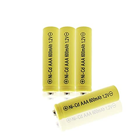 Geilienergy 4 Piece Yellow Color Triple A AAA Size NiCd 600mAh 1.2V Rechargeable Battery For Solar Lamp Solar - Rechargeable Aaa Nicd Battery