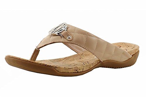 Donna Karan NY DKNY Women's Bianca Quilted Buff Flip Flop Sandals Shoes Sz: 9 Dkny Cork Sandals