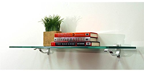 Review Monarch Floating Glass Shelf (24 in. W x 10 in. By Spancraft by Spancraft