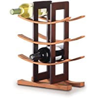 Anchor Home Collection 98617 Wine Rack with Espresso Finish, Natural Bamboo