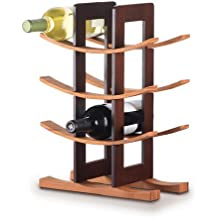 Anchor Home Collection 98617 Bamboo Wine Rack with Espresso Finish, Natural