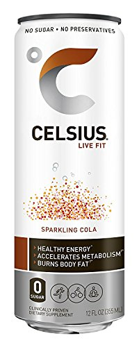 Celsius Sparkling Cola cMyYqo, 12-Ounce Cans (Pack of 24) by CelsiTi Inc.