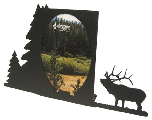 Innovative Fabricators, Inc. Bugling Elk Oval 5x7 Vertical Picture ()