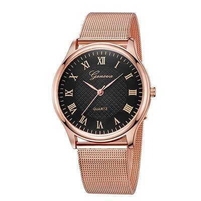 Amazon.com: Geneva Ladies Women Girls Unisex Stainless Steel Quartz Wrist Watch Ladies Watch Reloj Mujer A0824 A: Jewelry