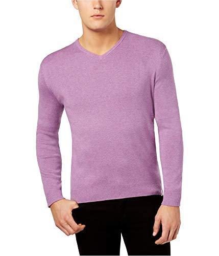 Calvin Klein Mens LS Knit Pullover Sweater Purple - Ls Knit Pullover