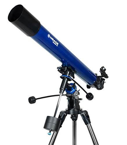Meade Instruments 216002 Polaris 80 EQ Refractor Telescope (Blue)