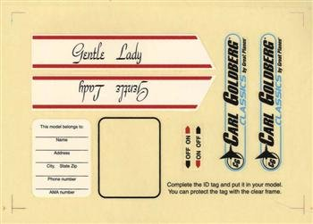 Decal Set Planes Great (GREAT PLANES Decal Set Gentle Lady ARF GPMA4159)