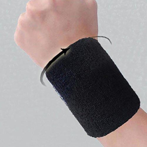 Hunpta Baumwoll Armbänder Handgelenkband Bands Schweißbänder Schweißband für Sport Tennis B