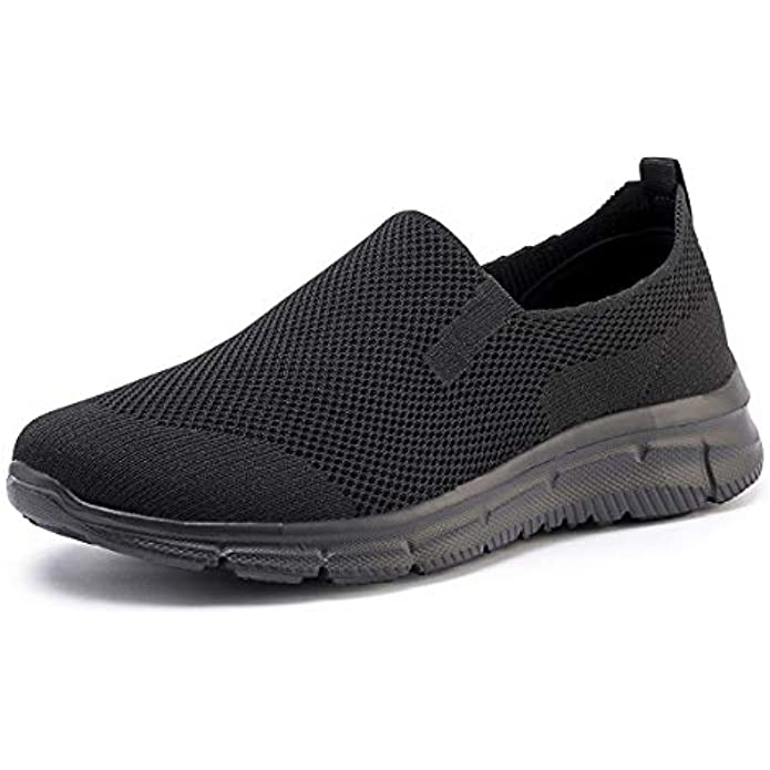 FRANK MULLY Men's Slip On Walking Shoes Lightweight Casual Knit Loafer Sneakers Comfortable Mesh Work Shoes Athletic Walking Shoes for Men Breathable