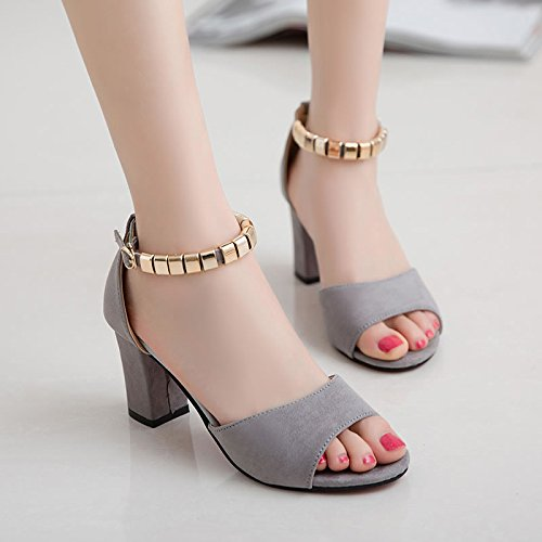 SHOESHAOGE D'Épaisseur Avec Des Chaussures Sandales Femme High-Heeled Et Fendu Pour Poisson Bouche Sandales Femme Romaine EU38 vigpKyrw