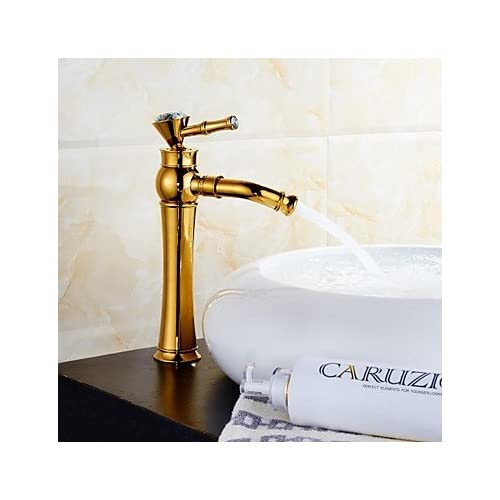 delicate W&P Pink gold/gold bathroom sink tap United States standard wide single handle single hole , gold