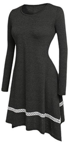 erdbeerloft - Vestido - Básico - Opaco - para mujer gris 40