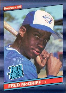 Amazoncom 1986 Donruss Baseball 28 Fred Mcgriff Rookie Card