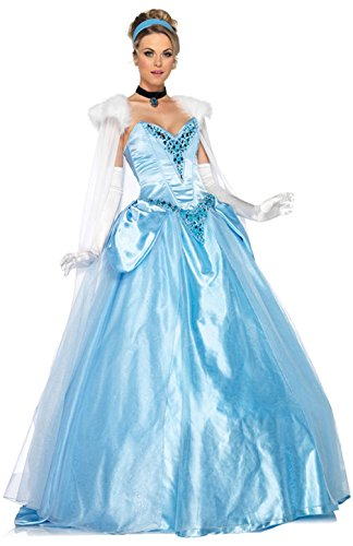 [Mememall Fashion Princess Deluxe Ball Gown Fancy Dress Adult Costume] (Deluxe Cow Mask)
