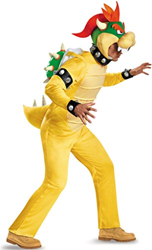 Bowser Costumes For Adults (Deluxe Bowser Adult Costume - X-Large)