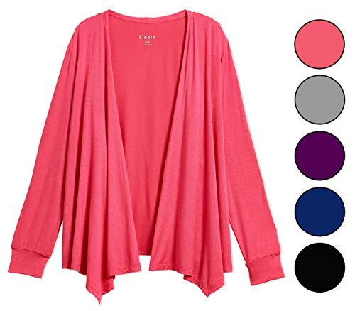 KIDPIK Open Cardigan for Girls – Long Sleeve Back to School Fall Sweater by KIDPIK