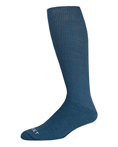 Pro Feet Multi-Sport Cushioned Acrylic Tube Socks, Teal, Medium/Size 9-11 ()