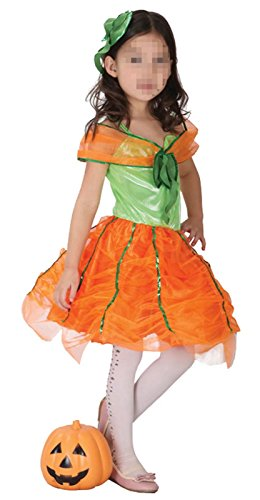 1950s Guys Costumes For (Betusline Kids Little Girls Pumpkin Tutu Dress Costume Halloween)