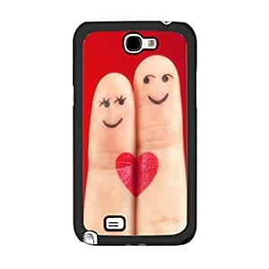 Hipster Red Finger Drawing Love Couple Smile Custom Hard Plastic For Case Iphone 4/4S Cover protective z4myJXF99IN cell phone Skin