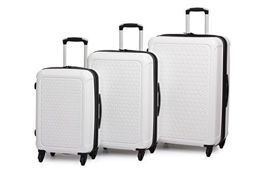 IT Luggage Honeycomb Polypropylene 3 Piece Set, Cream, One Size