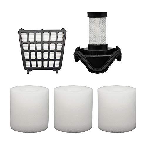 Colorfullife 1 HEPA Filter 3 Foam Filters & 1 Pre-Motor Filter for Shark Flex DuoClean Corded Ultra-Light Vacuum HV390, HV391, HV392. Compare to Part # 461FFJV390 & 464FFJV390