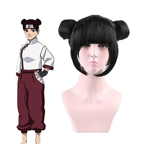 Tenten Naruto Costumes - MINGZUO Naruto Cosplay Wig