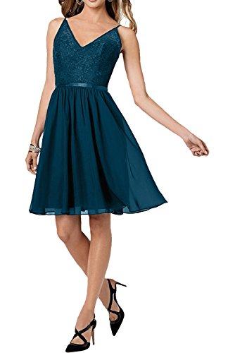 ausschnitt Braut Neu Abendkleider Dunkel Damen V Traeger La Blau mia Cocktailkleider Traube mit Abiballkleider Tanzenkleider XT54Sq