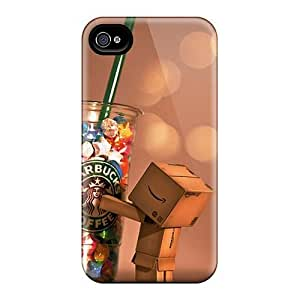 Premium Iphone 4/4s Case - Protective Skin - High Quality For Danbo Starbucks