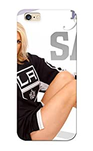 Durable Protector Case Cover With Losangeleskings Nhl Hockey Los Angeles Kings Cheerleader Sexy Babe Hot Design For Iphone 6 (ideal Gift For Lovers)