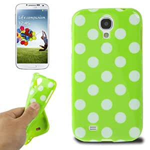 Green and White Dot Pattern TPU Case Funda Carcasa Para Samsung Galaxy S4 i9500 /