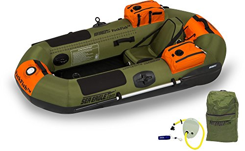 Boat Fishing Drift Fly - Sea Eagle PF7K PackFish Inflatable Boat Deluxe Fishing Package