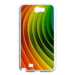 Samsung Galaxy N2 7100 White Phone Case Abstraction Patterns Lines Light Rational Cost-effective Surprise Gift Unique WIDR8611005214