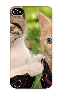 Fireingrass Case Cover For Iphone 4/4s - Retailer Packaging Cats Kiens Babies Face Eyes Cute Protective Case