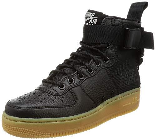 Nike Women's SF AF1 Mid Black/Black Gum Light Brown Basketball Shoe 6 Women US