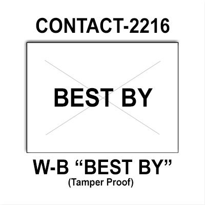 180,000 Contact compatible 2216 ''Best By'' White General Purpose Labels to fit the Contact 22-66, Contact 22-77, Contact 22-88 Price Guns. Full Case + includes 20 ink rollers. by Infinity Labels