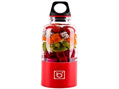 Bingo Personal Mini Juice Maker Rechargeable Smoothie Blender Electric Drink Mixer with 500ml Water Bottle for Office Outdoors Travelling