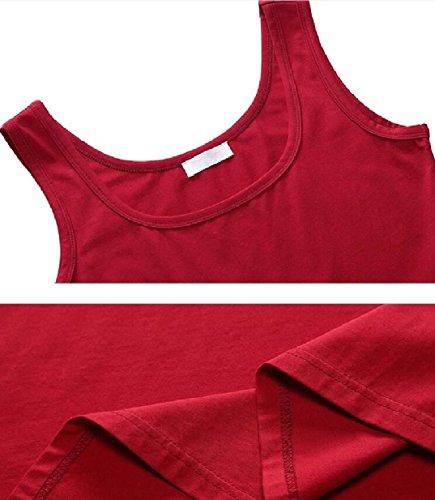 Altalena Donna T Jaycargogo Solido Abiti Da Casual Maniche shirt Rossa Senza OYzAqzUnI
