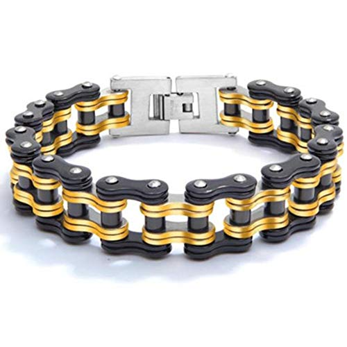 Recommended Good quality Chain Bracelet Men's Bicycle Bracelet Stainless Steel 8.5 inch Creative Personality Male Domineering Thick Titanium Alloy Gift Packaging 10☀10☀10 cm3.9☀3.9☀3.9 inches