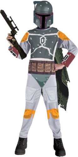 Boba Fett Halloween Costumes (Child's Boba Fett Star Wars Costume (Sz:Small 4-6))