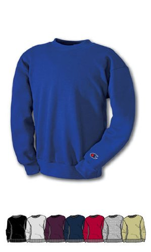 Champion Men's Men' Reverse Weave Fleece Crew, Black, Small from Champion