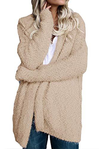 À Fausse Taille Kaki En coloré Pour Fourrure Femmes Capuche D'hiver Xl Oudan Manteau qp6Ef