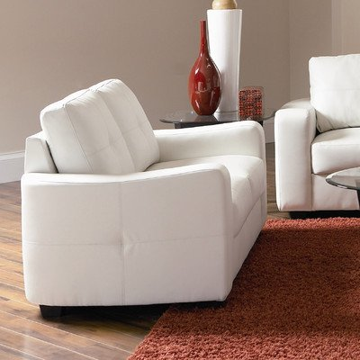 Coaster Home Furnishings 502712 Casual Contemporary Loveseat, White Review