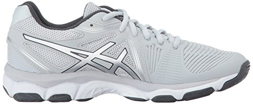 Asics Womens Gel-netburner Ballistic Volleyball Shoes Ghiacciaio Grigio / Argento / Grigio Scuro