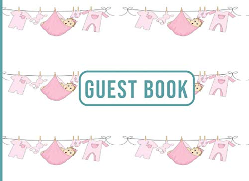 Guest Book: Super Simple Guest Book For Baby Shower  (8.25 x 6)
